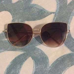 Accessories - Gold and Brown Cat Eye Sunglasses